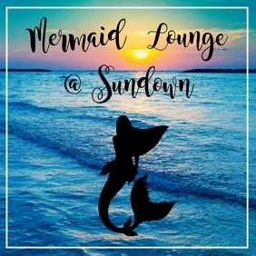 Mermaid Lounge Party Publicación de Instagram template