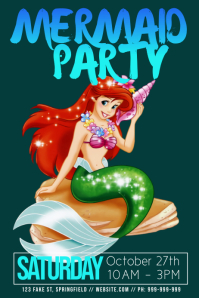 Mermaid Party Poster