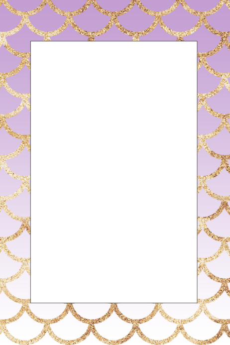 Mermaid Party Prop Frame