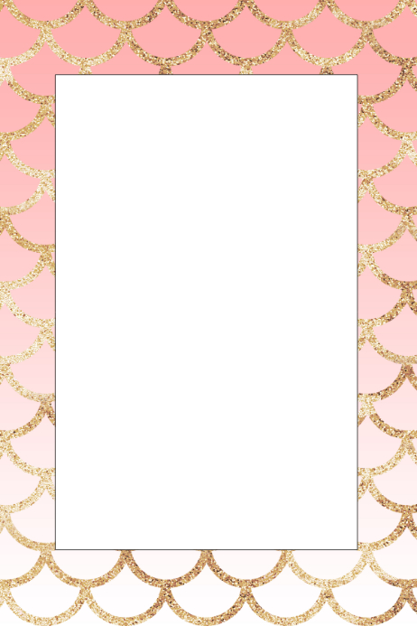 Mermaid Party Prop Frame Template | PosterMyWall