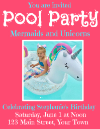 Mermaids and Unicorns Pool Party