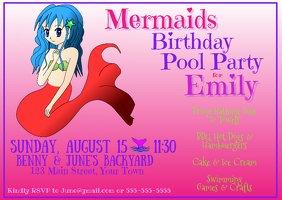 Mermaids Birthday Pool Party