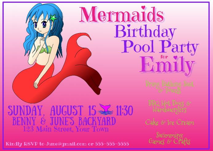 Mermaids Birthday Pool Party