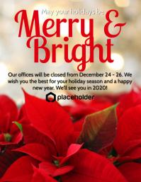 Merry & Bright - Poinsettia