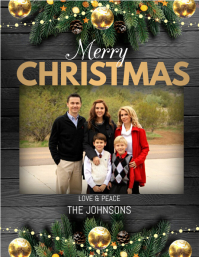 merry christmas,christmas cards Flyer (US-Letter) template