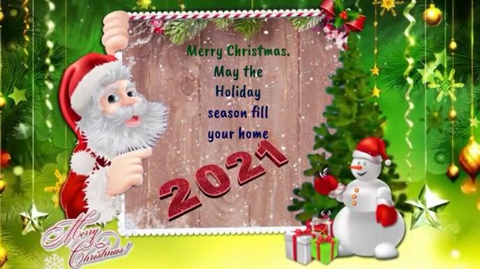 Auguri Di Buon Natale 2021 Video.Modello Video Auguri Di Buon Natale E Capodanno 2021 Postermywall