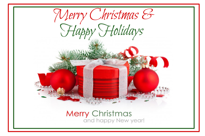Merry Christmas & Happy Holidays Poster template