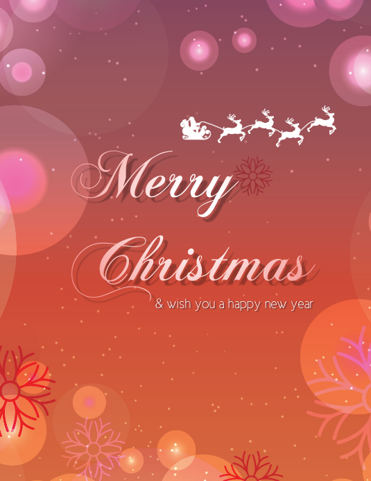 merry christmas wish you a happy new year customize template