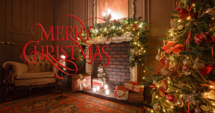 Merry Christmas 5 Facebook Shared Image template