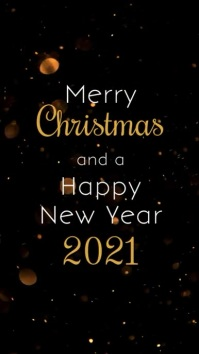 Merry Christmas and a Happy New Year Video Instagram Story template