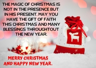 MERRY CHRISTMAS AND NEW YEAR QUOTE TEMPLATE A1