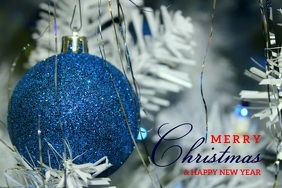 MERRY CHRISTMAS AND HAPPY NEW YEAR VIDEO Banner 4 x 6 fod template