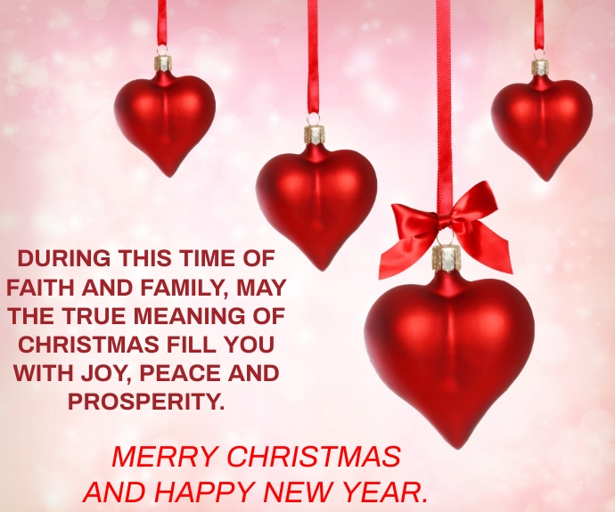 MERRY CHRISTMAS AND NEW YEAR QUOTE TEMPLATE Mellemstort rektangel