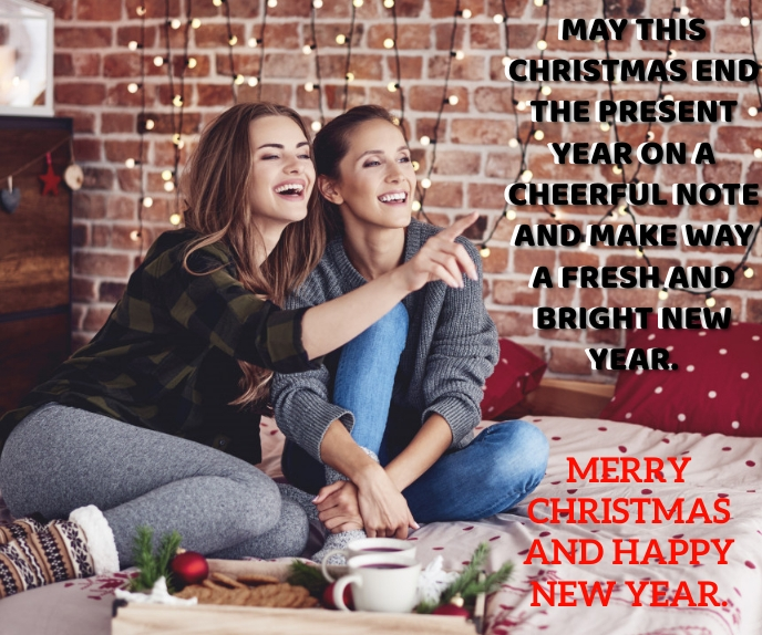 MERRY CHRISTMAS AND NEW YEAR QUOTE TEMPLATE สามเหลี่ยมขนาดใหญ่