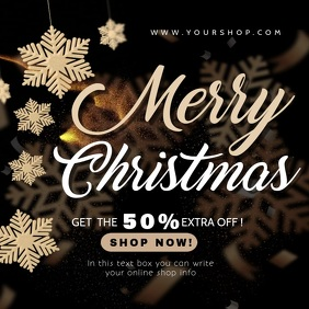 merry christmas and new year sale