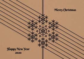 Merry christmas and newyear poster flyer Postcard template