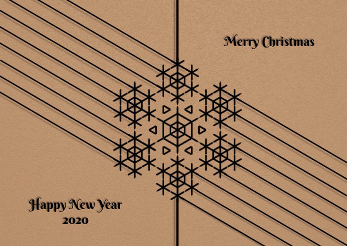Merry christmas and newyear poster flyer