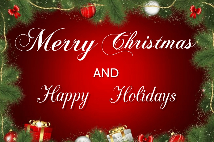 Merry Christmas banner Poster template