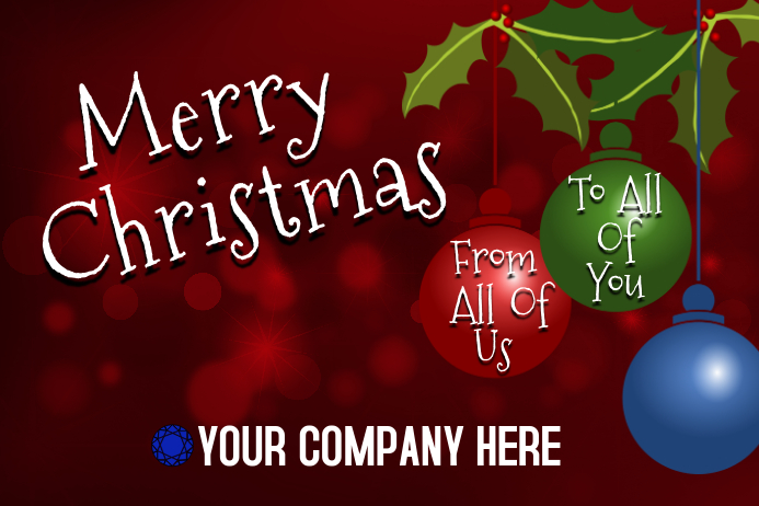 Merry Christmas Banner Template | PosterMyWall