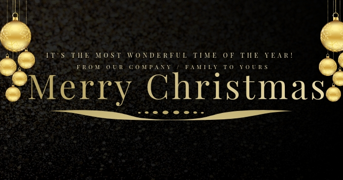 Merry Christmas Banner Template Facebook Shared Image