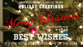 Merry Christmas best wishes flyer poster