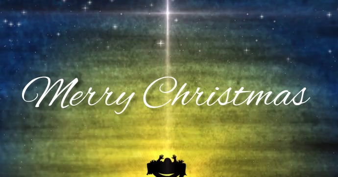 merry christmas card cards online Facebook Shared Image template