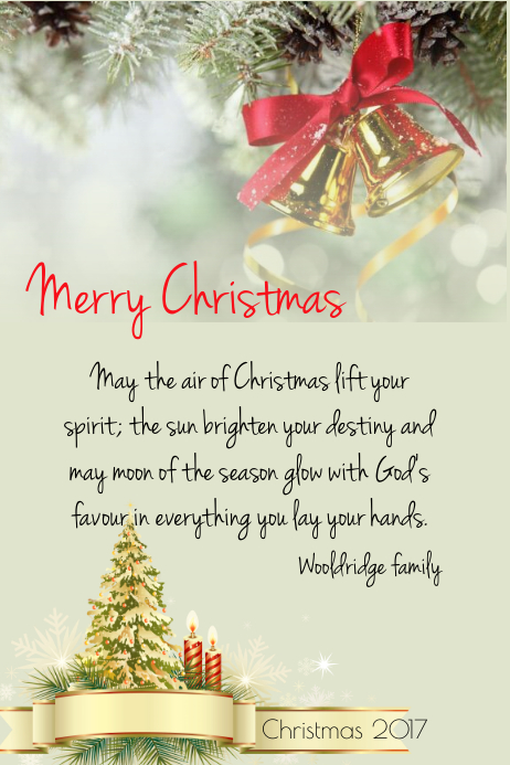 Merry Christmas card Template | PosterMyWall