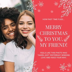 Merry Christmas Card to a Friend Photo