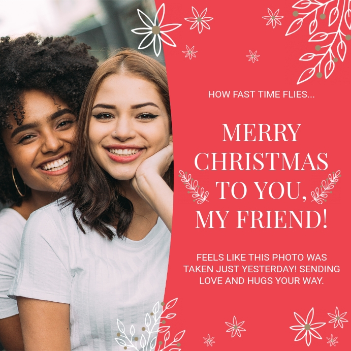 Merry Christmas Card to a Friend Photo Instagram na Post template