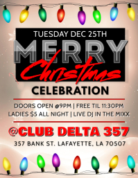 MERRY CHRISTMAS CELEBRATION CLUB FLYER