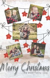Merry Christmas Wide Setengah Halaman template