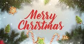 Merry Christmas Image partagée Facebook template