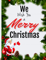 Merry Christmas Flyer (US Letter) template