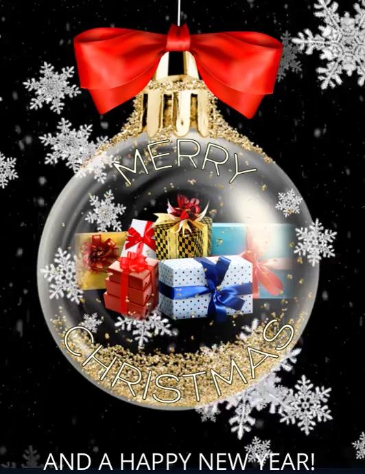 MERRY CHRISTMAS VERSION 1 Volante (Carta US) template