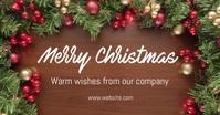 Merry Christmas delt Facebook-billede template