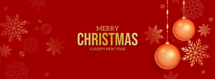 Merry Christmas Foto Sampul Facebook template