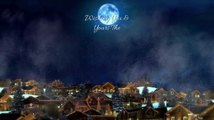 MERRY CHRISTMAS Tampilan Digital (16:9) template