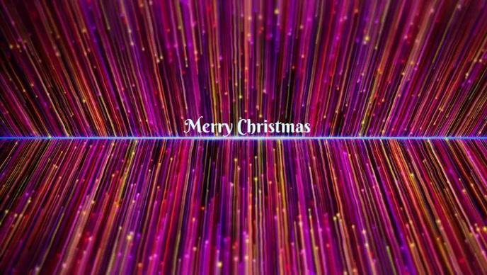 Merry Christmas Vídeo de portada de Facebook (16:9) template