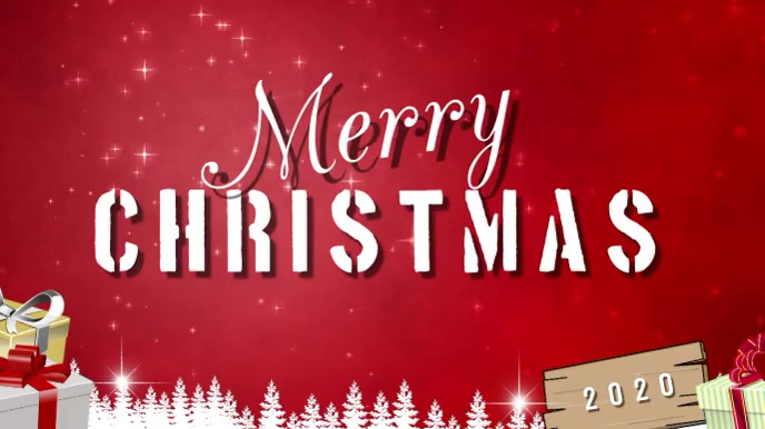 merry christmas Pantalla Digital (16:9) template