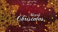 MERRY CHRISTMAS Digitalt display (16:9) template