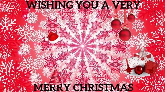 MERRY CHRISTMAS Pantalla Digital (16:9) template