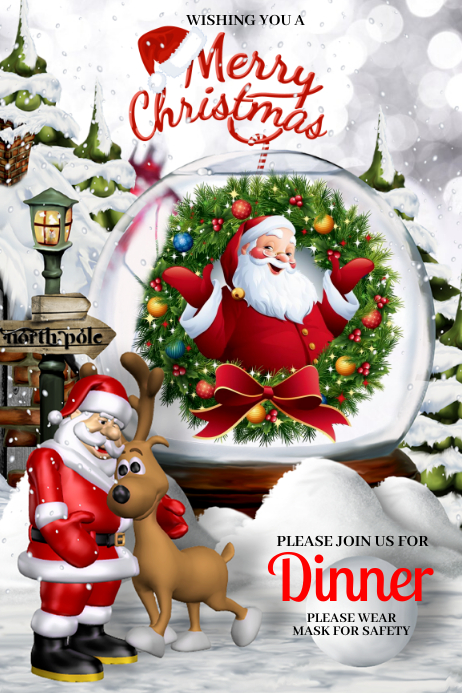 Merry Christmas Poster template