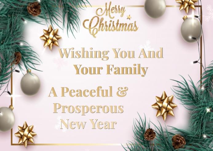 MERRY CHRISTMAS Postal template