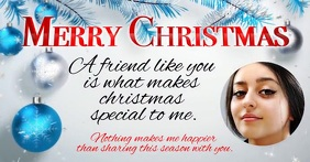 Merry Christmas Facebook Video Greeting