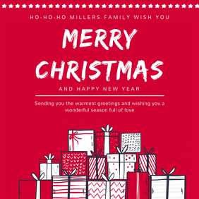 merry christmas family greeting image template