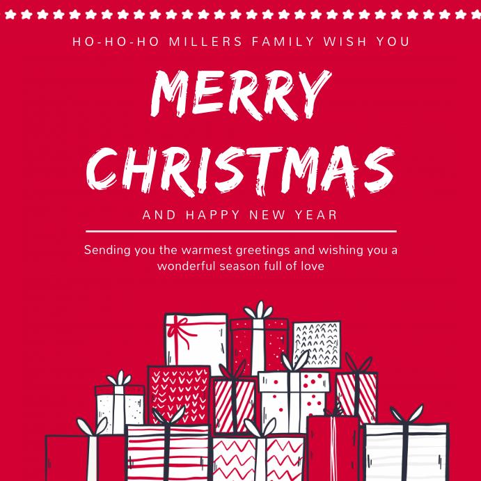 Auguri Di Natale Per La Famiglia.Modello Di Immagine Di Auguri Di Buon Natale E Famiglia Postermywall