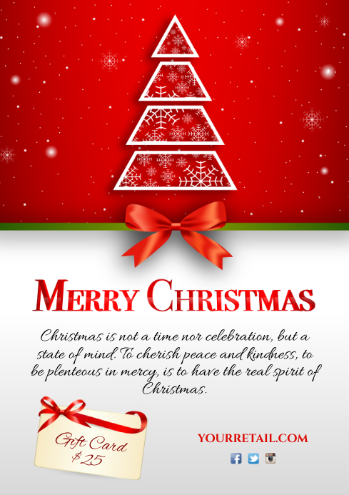 Christmas Flyer.Merry Christmas Flyer Template Postermywall
