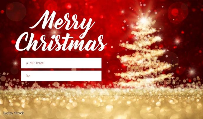 Merry Christmas gift tag