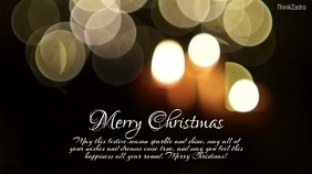 Merry Christmas Greeting Card Candle WIshes