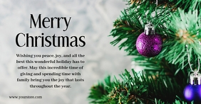 Merry Christmas Greeting Card Cover Message